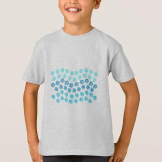 Blau bewegt K wellenartig T-Shirt