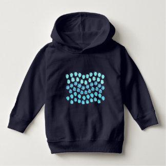 Blau bewegt Kleinkind-PulloverHoodie wellenartig Hoodie