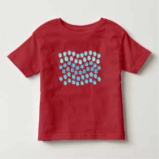 Blau bewegt Kleinkind-T - Shirt wellenartig