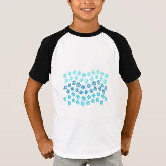 Blau bewegt raglan-T - Shirt der Kinder kurzen die
