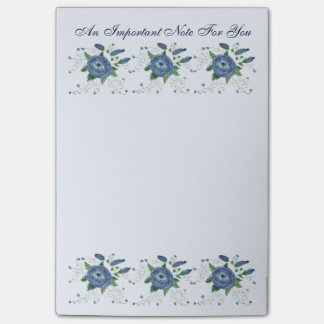 Blau blühte wenig Büro-Anmerkung Post-it Klebezettel