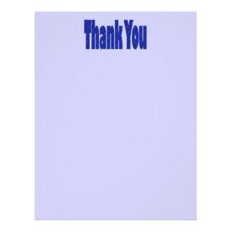 Blau dankt Ihnen Custom Flyer