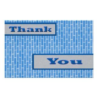 Blau dankt Ihnen Flyerbedruckung