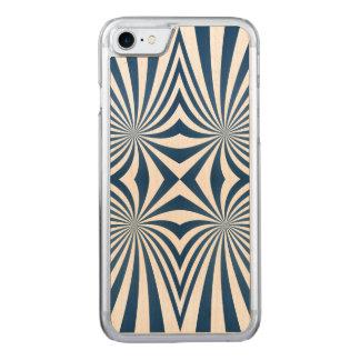 Blau, das hypnotisches Muster wiederholt Carved iPhone 8/7 Hülle