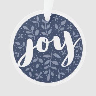 Blau der kunstvolle Freude-personalisiertes Ornament