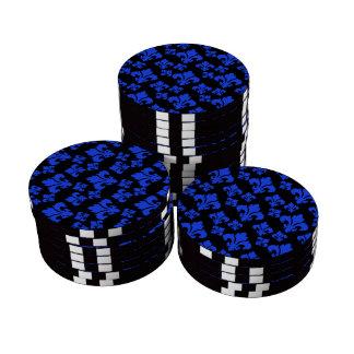 Blau der Lilien-4 Pokerchips