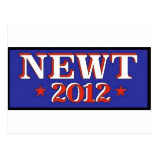 Blau des Newt-2012 Postkarte
