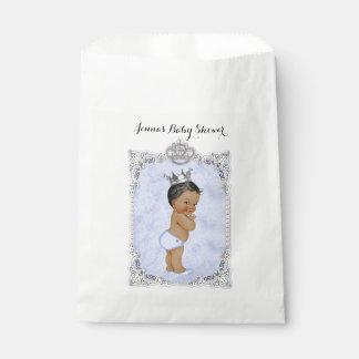 Blau Diamant-Afroamerikaner-Prinz-Baby Geschenktütchen