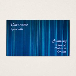 Blau drapiert visitenkarte