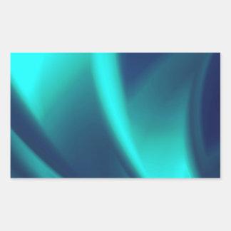 Blau-Erröten Rechteckiger Aufkleber
