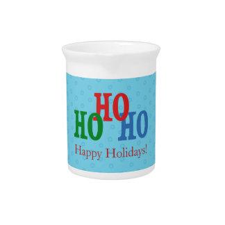 Blau-frohe Feiertage kundenspezifischer Getränke Pitcher