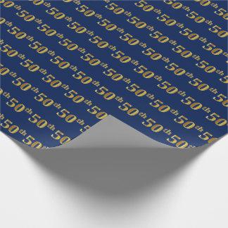 Blau, (fünfzigstes) Ereignis des Imitat-Gold50. Geschenkpapier