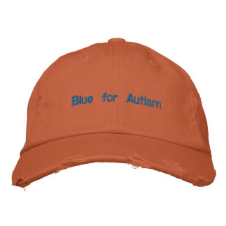 Blau für Autismus-Kappe Bestickte Kappe