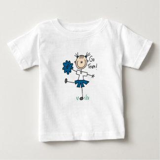 Blau geht Team-Cheerleader-T - Shirts und