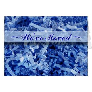 Blau gekrümmte Fetzen Karte