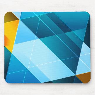 Blau/Gelb abstraktes Mousepad