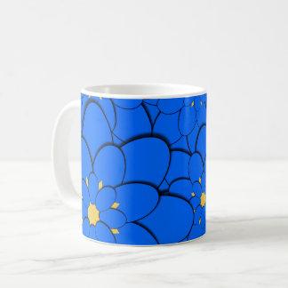 Blau gemustert kaffeetasse