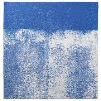 Blau gerollte Farbe Stoffserviette
