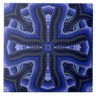 Blau geschnürtes Motiv Keramikfliese