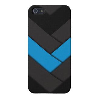 Blau gesponnener Streik iPhone 5 Cover
