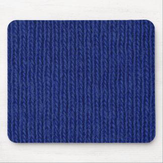 Blau gestricktes Baumwollenahes hohes mousemat Mousepad