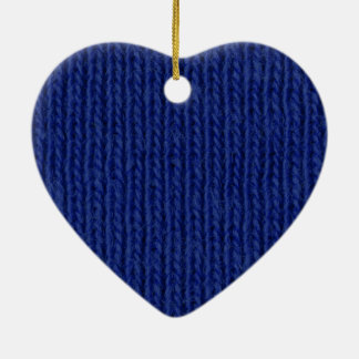 Blau gestricktes Baumwollnahes hohes Keramik Ornament