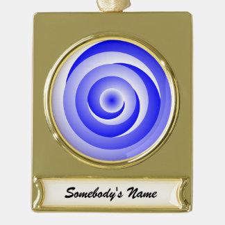 Blau-gewundene Illusion Banner-Ornament Gold
