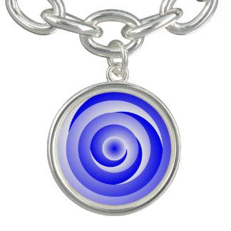 Blau-gewundene Illusion Charm Armband