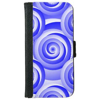 Blau-gewundene Illusion durch Kenneth Yoncich Geldbeutel Hülle Für Das iPhone 6/6s