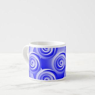 Blau-gewundene Illusion Espressotasse