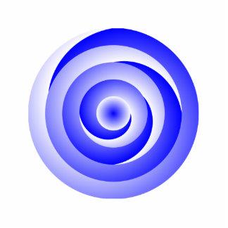 Blau-gewundene Illusion Fotoskulptur Schlüsselanhänger
