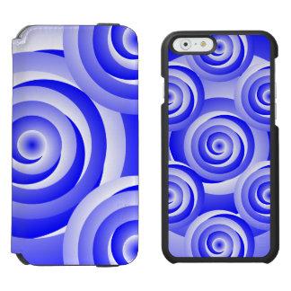 Blau-gewundene Illusion Incipio Watson™ iPhone 6 Geldbörsen Hülle