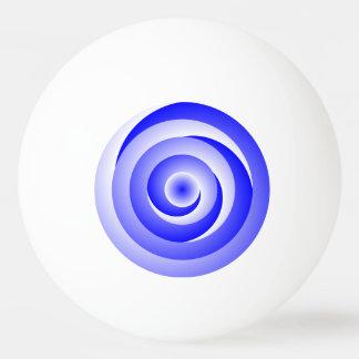 Blau-gewundene Illusion Ping-Pong Ball