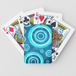 Blau-glühende kosmische Ringe Bicycle Spielkarten
