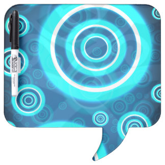 Blau-glühende kosmische Ringe Memoboard