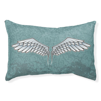 Blau-graue Flügel Haustierbett