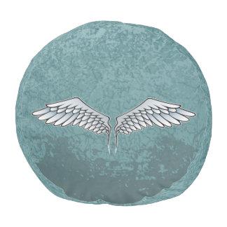 Blau-graue Flügel Hocker