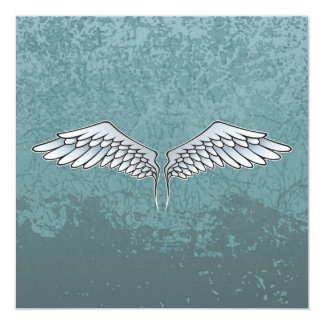 Blau-graue Flügel Karte