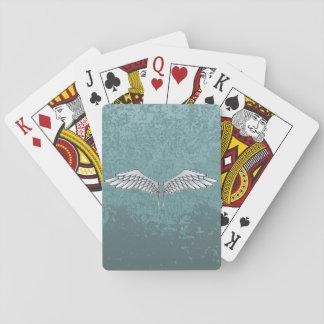 Blau-graue Flügel Spielkarten
