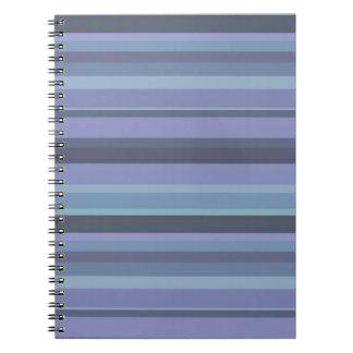 Blau-graue horizontale Streifen Notizblock