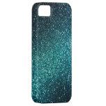 Blau-/Grün-Schein-Glitter iPhone 5 Fall Etui Fürs iPhone 5