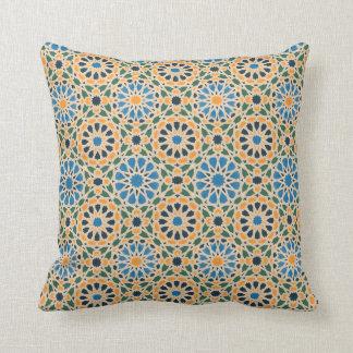 Blau im Blüten-Muster-Kissen Kissen