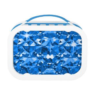 Blau ist glänzende funkelnde Diamanten Brotdose