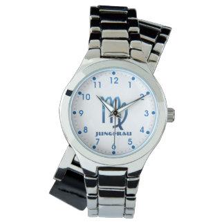 Blau Jungfrau Jungfrau-Tierkreis Armbanduhr
