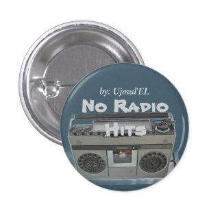 Blau kein Radio schlägt Knopf Runder Button 2,5 Cm