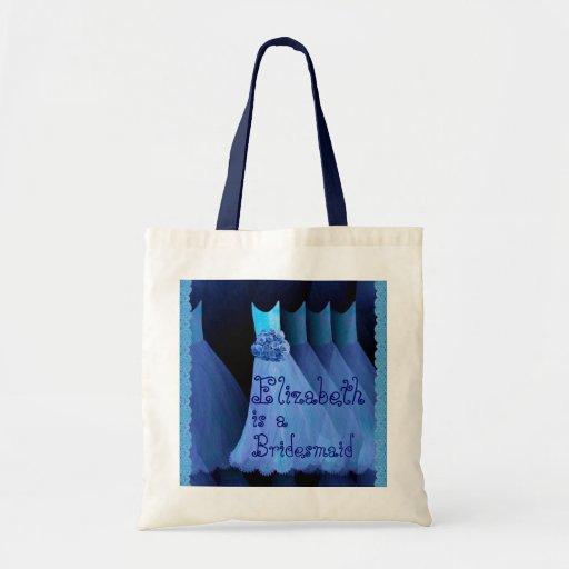 Blau-Kleider und Spitze-Brautjungfern-Tasche V02