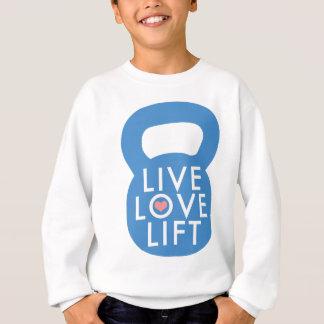 "Blau-""LiveLiebe-Aufzug! "" Sweatshirt"