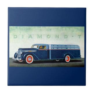 Blau-LKW 1937 des Diamanten T Keramikfliese