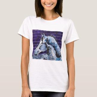 Blau, Logan quadratisches Blue Line T-Shirt