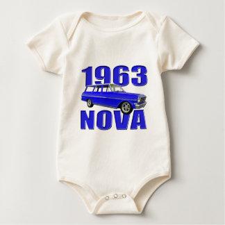 Blau longroof Lastwagen des Novas 1963 chevy II Baby Strampler